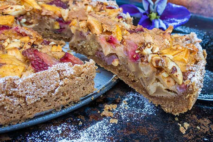 gluten free strawberry apple cake