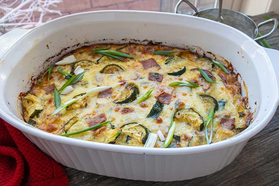 zucchini and ham cheese casserole