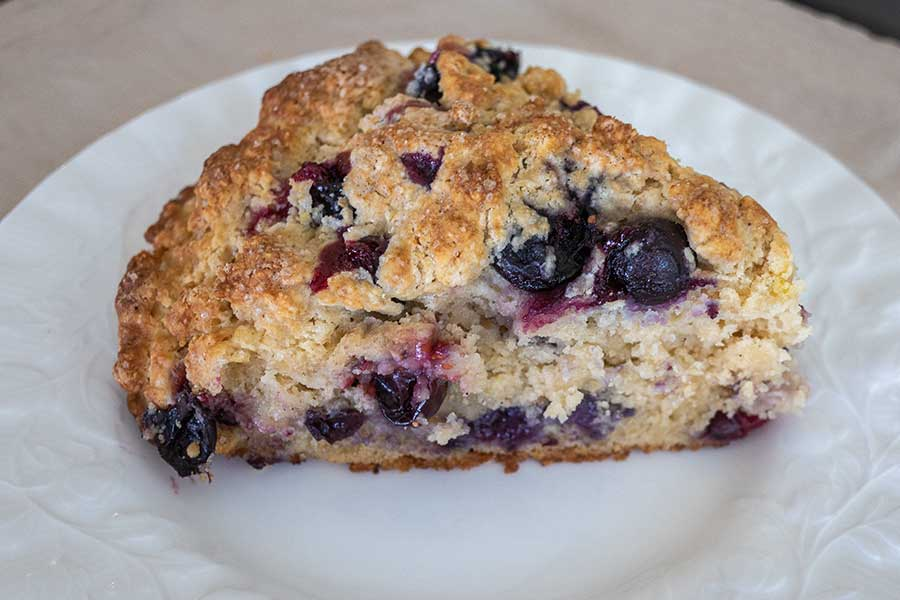 zesty blueberry scones, gluten free