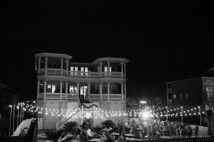 Making Memories Ocean Isle Beach reception event lighting
