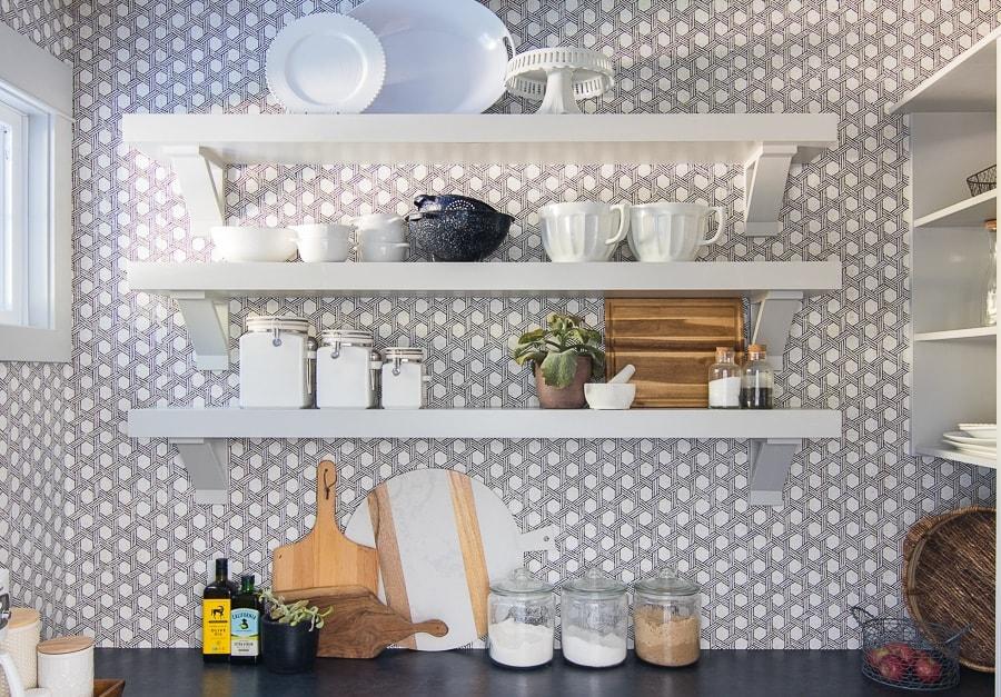 butler's pantry open shelves