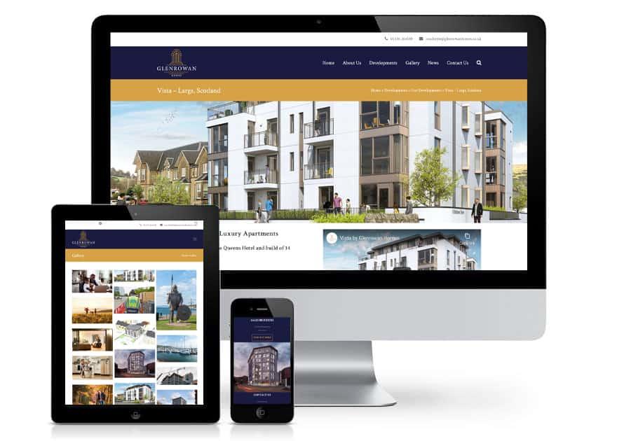 Glenrowan Homes Website Blue Doplhin Web Design Peterborough 2