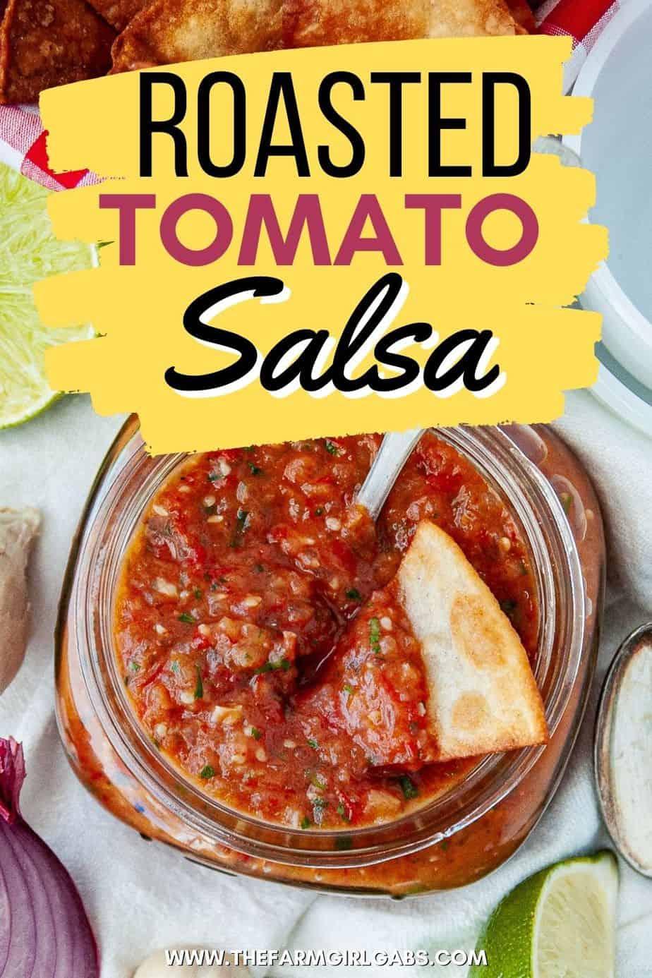 Roasted tomato and tomatillo salsa