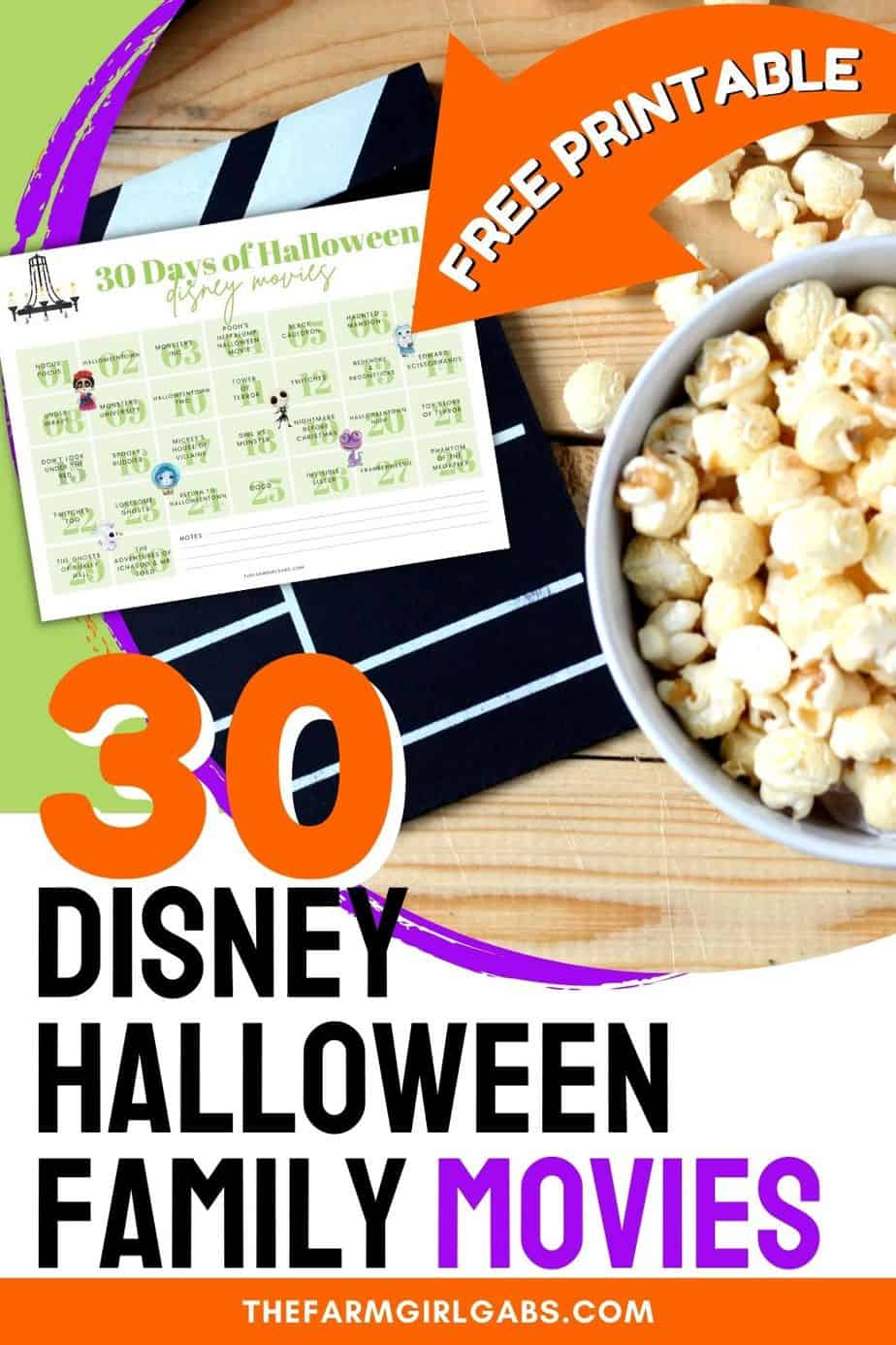 Disney Halloween movies are the ultimate treat this time of year. We've compiled a list for 30 Disney Movies for families to watch this October. Grab some popcorn and plan the Ultimate Disney movie night with your family. Scroll down for a free printable Disney movie guide too.