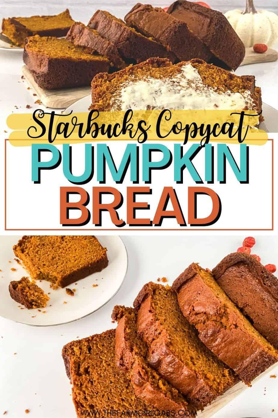 easy pumpkin bread recipe (Starbucks copycat)