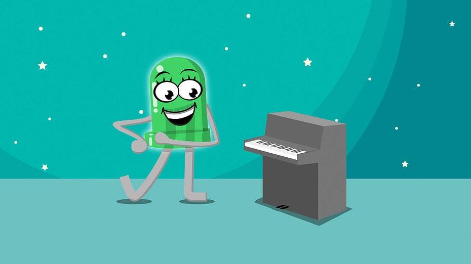 Ein Button Piano