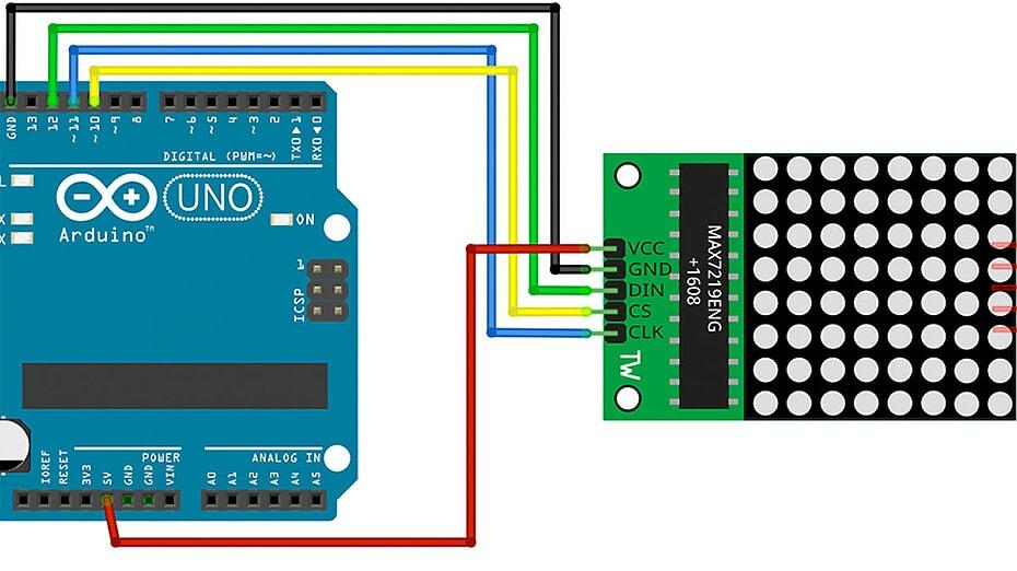 Arduino Matrix Display Max7219