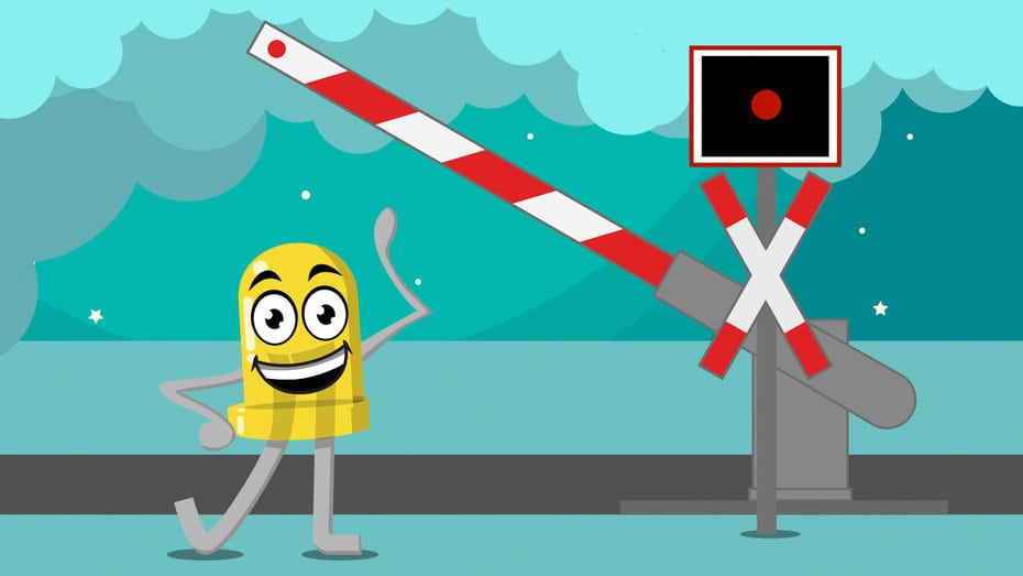 Arduino Bahnübergang mit Servo Schranke und Andreaskreuz