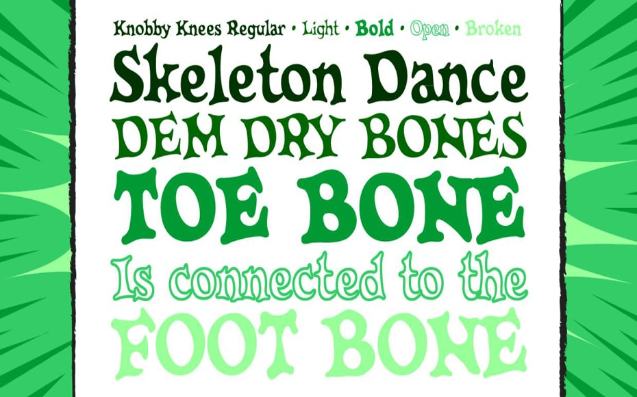 CC Knobbly Knees Font Family Download