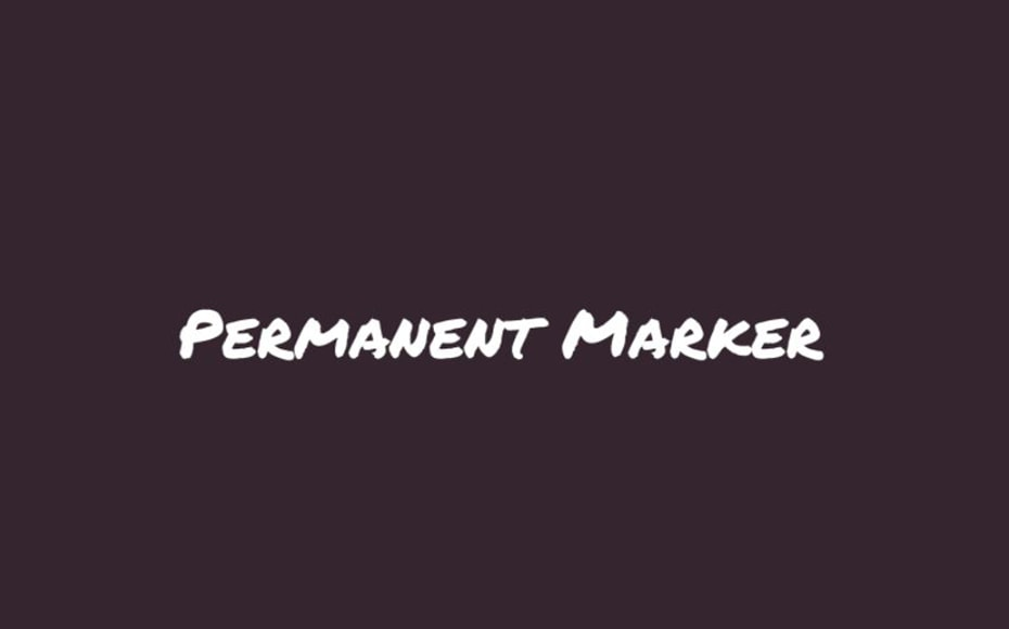 Permanent Marker Font Family Free Download