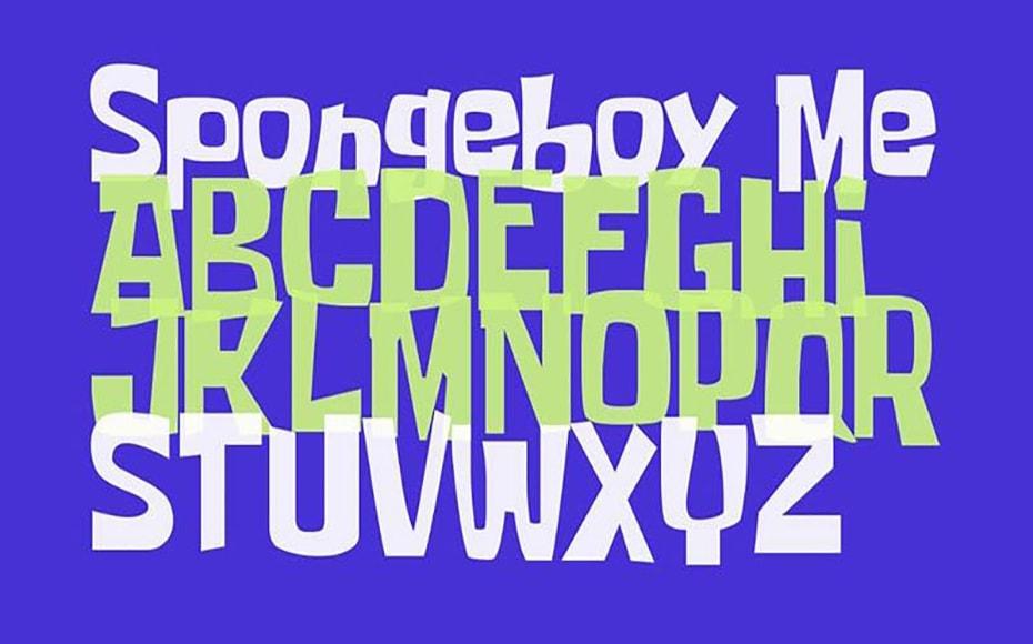 Spongeboy Me Bob Font Family Download