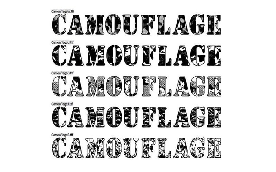 Camouflage Font Family Download