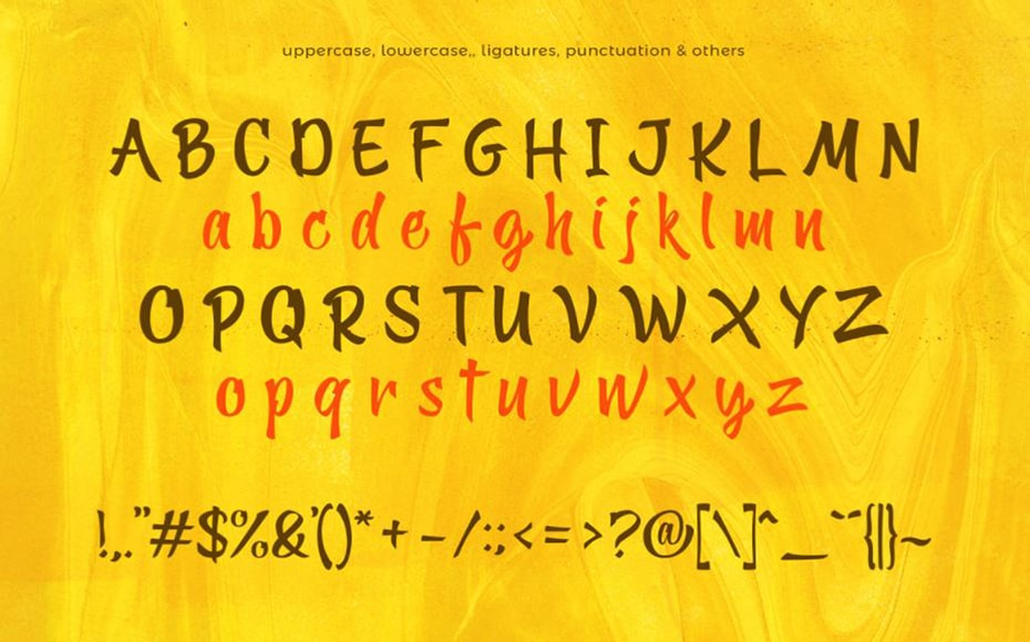 Yellow Ginger Font Free Download