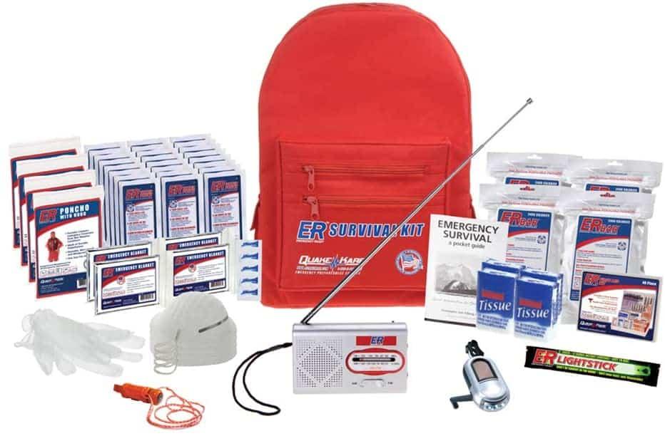 ER Emergency Ready SKBP4SS 4 Person Deluxe Backpack Survival Kit