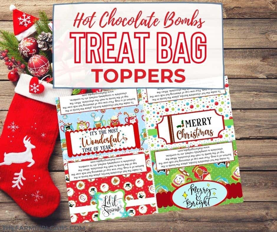 Give these Hot Chocolate Bombs as a gift. Download these treat bag toppers here.