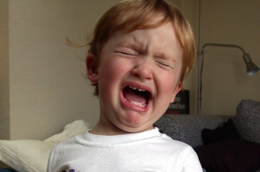 泣いてる子