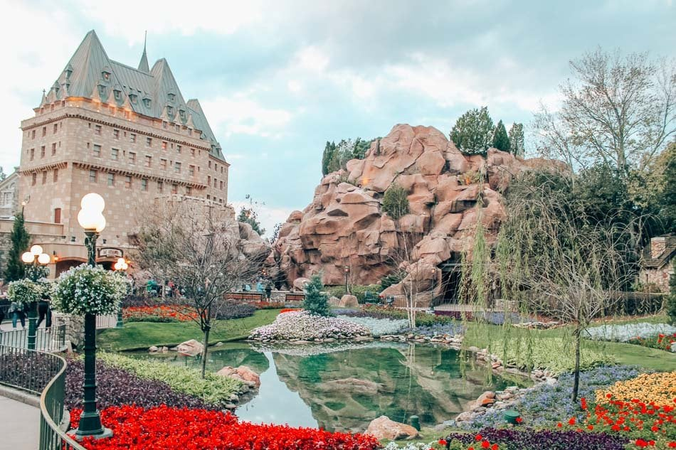 The castle in Canada in Epcot, Disney World, Orlando, Florida.