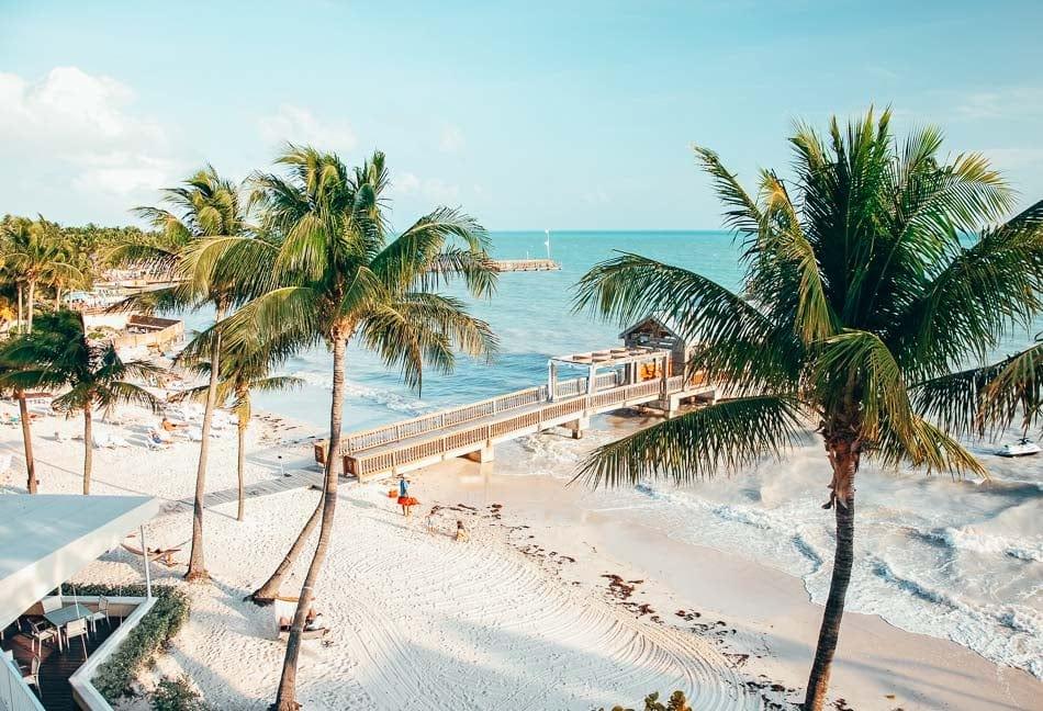 Private beach in Key West, Florida