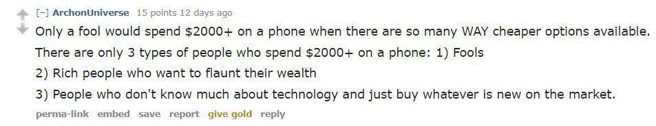 ArchonUniverse Reddit iPhone comment