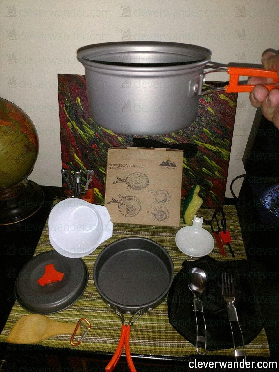 AnimeMiracle Pcs Camping Cookware Set - image review - 1