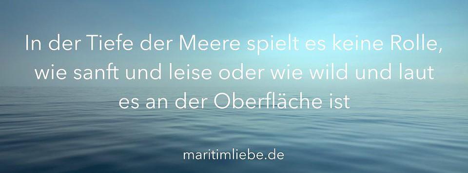 Maritime Sprüche - In der Tiefe der Meere