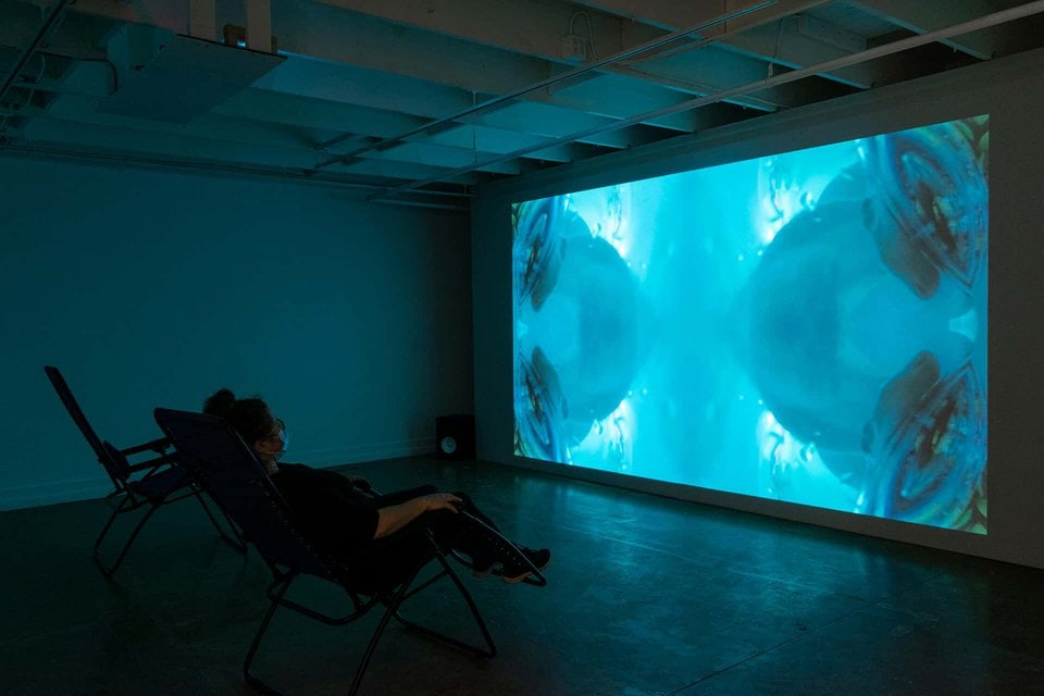Installation view of Openings (Saekdong Seas), Jin-me Yoon, 2020. Photo by Brittany Nickerson.