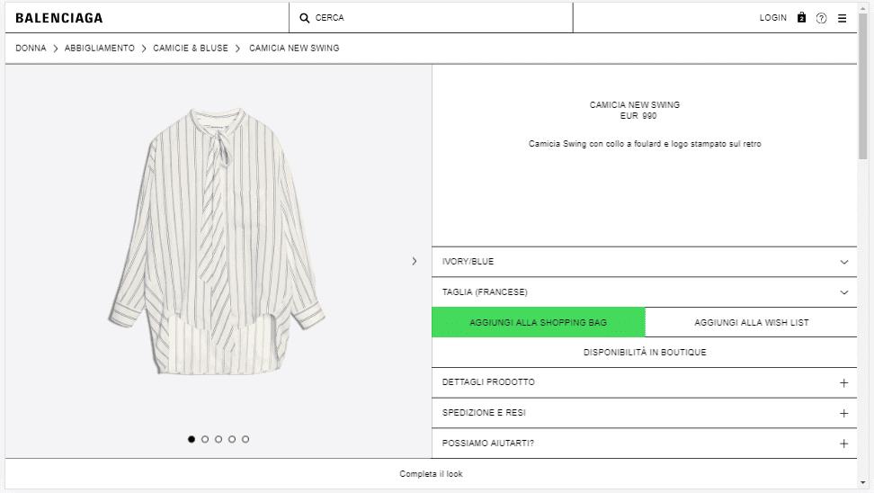Acquisto prodotti Balenciaga - IMPRIMIS e-commerce