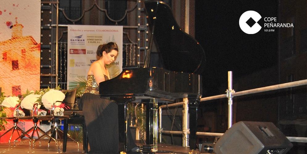 Virginia Sánchez Rodríguez, durante una actuación en Peñaranda de Bracamonte
