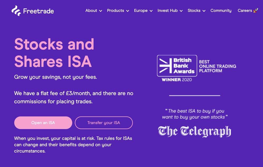 Freetrade Stocks and Shares ISA
