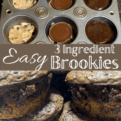 3 ingredient brownie cookies