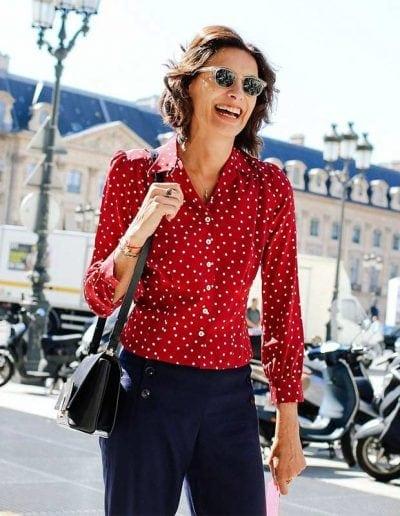 How to get parisian chic style like Ines de La Fressagne | 40plusstyle.com