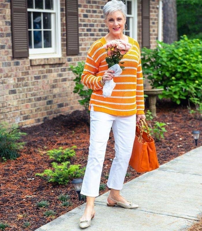 How to wear orange | 40plusstyle.com