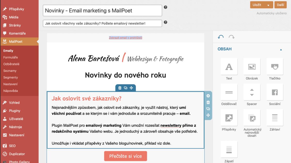 Email marketing s MailPoet