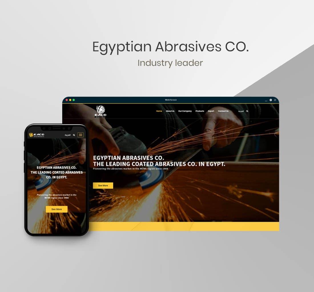 Alex Web Design, website development and mobile app development company clients in Egypt - Egyptian Abrasives