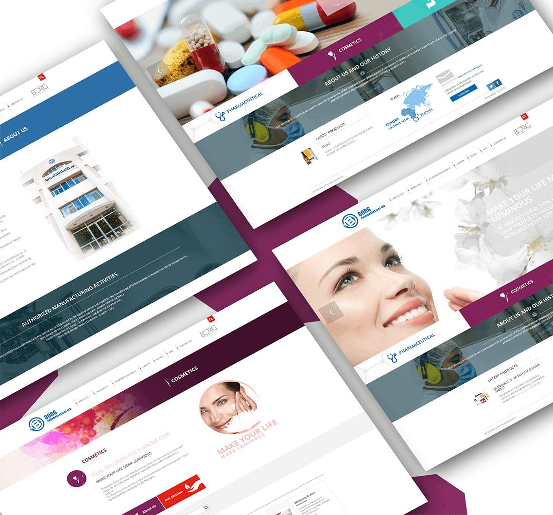 Alex Web Design, website development and mobile app development company clients in Egypt - Borg Pharma