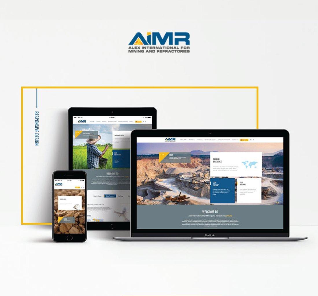 Alex Web Design, website development and mobile app development company clients in Egypt - Aimr Mining