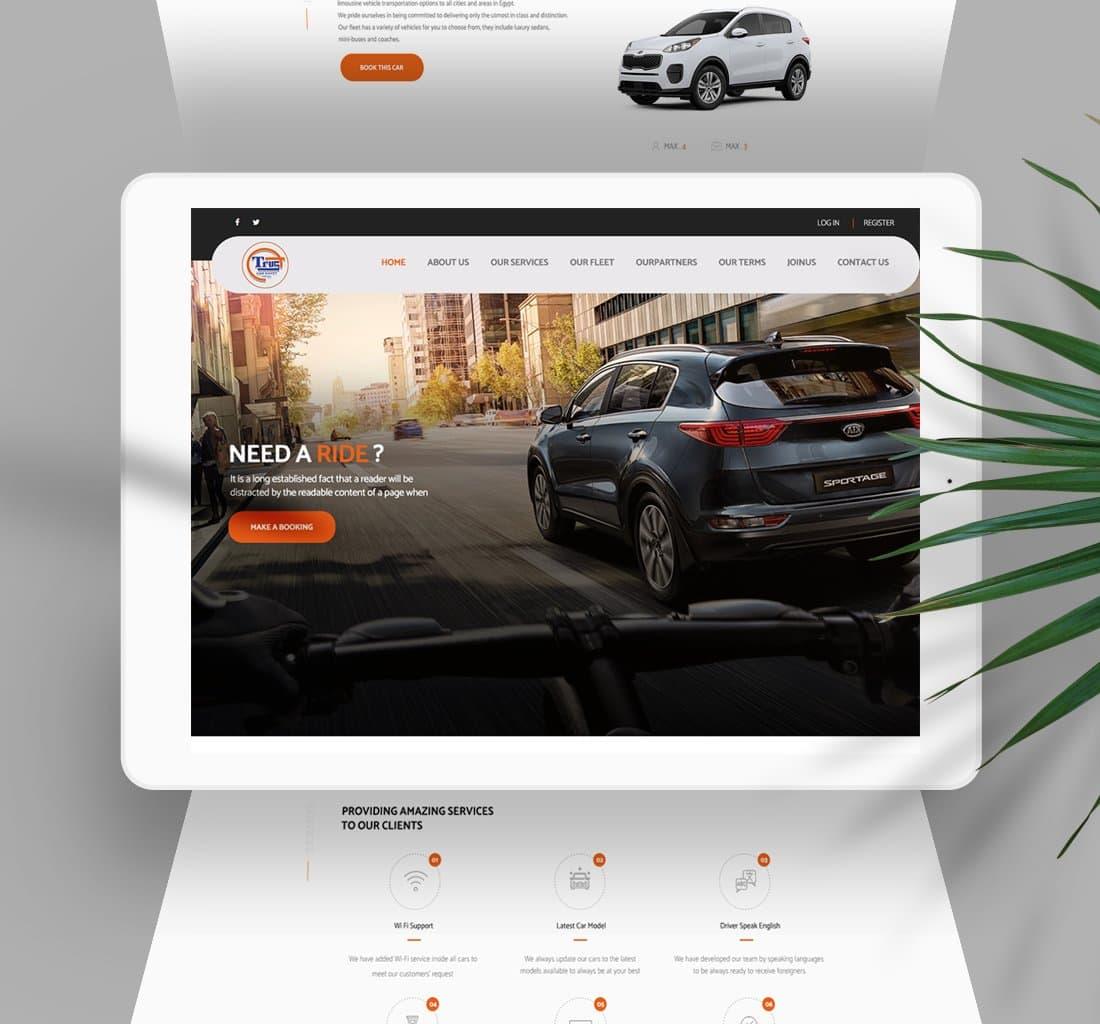 Alex Web Design, website development and mobile app development company clients in Egypt - Trust Car