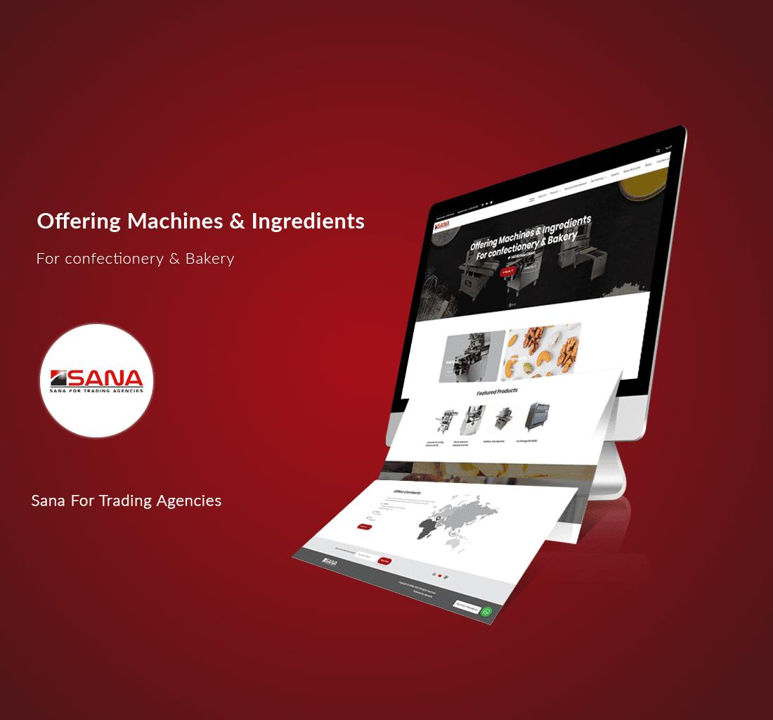 Alex Web Design, website development and mobile app development company clients in Egypt - Sana for Trading Agencies