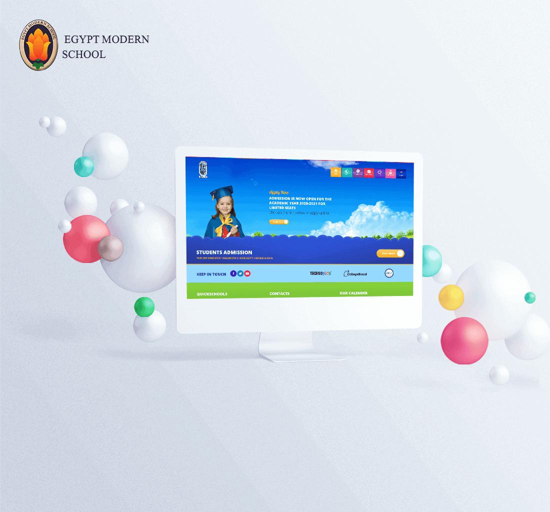 Alex Web Design, website development and mobile app development company clients in Egypt - Egypt Modern School