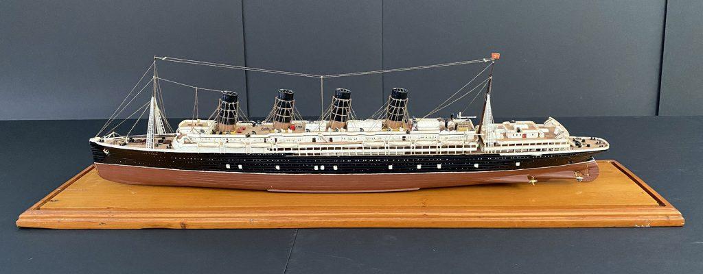 Maquette du paquebot Lusitania