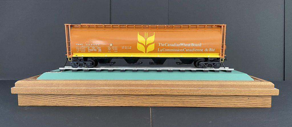 Maquette d'un wagon de la Commission canadienne du blé
