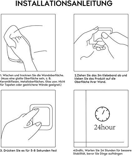 Ruicer Bad Handtuchhalter selbstklebend - 6