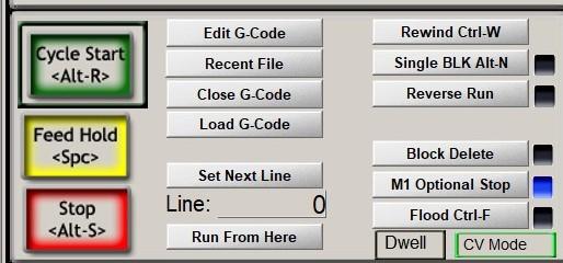 mach3 cycle start button