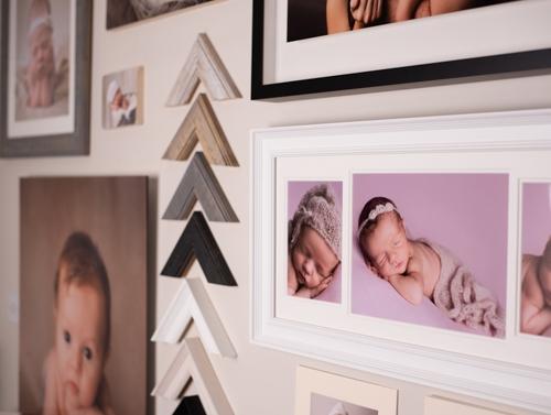 Wall of sample frames