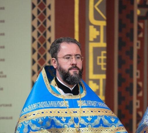 В праздник Покрова Пресвятой Богородицы ректор ДДС сослужил епископу Таганрогскому Артемию в Патриаршем соборе Новочеркасска