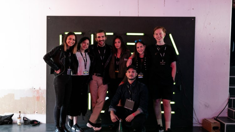 Members of the Factory Berlin Marketing team pose for a group photo.