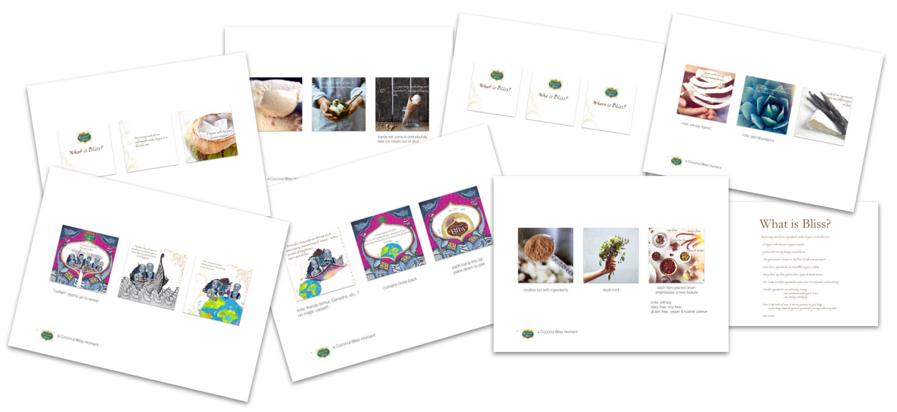 Greta Rose Agency Coconut Bliss Storyboard