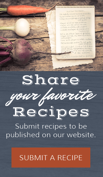 Share Your Recipe on Our Website