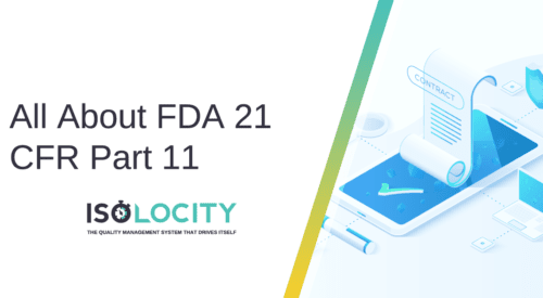 All About FDA 21 CFR Part 11