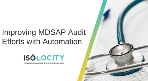 Improving MDSAP Audit Efforts with Automation